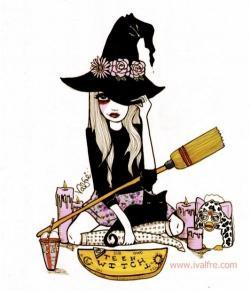 Drawn witchcraft cute