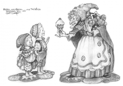 Drawn witchcraft hansel and gretel