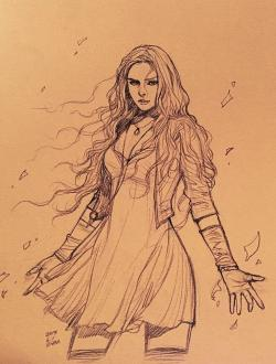 Drawn witch scarlet witch