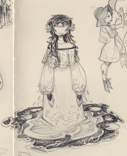 Drawn witchcraft sketch