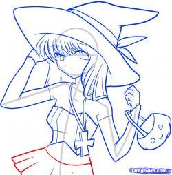 Drawn witchcraft witch anime