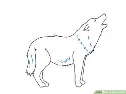 Drawn hunting arctic tundra