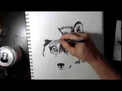 Drawn wolf