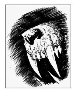 Drawn teeth werewolf
