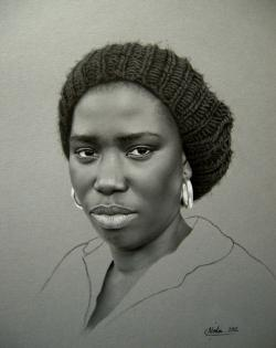 Drawn women african american