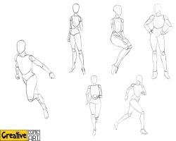 Drawn comics figure drawing