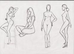 Drawn women body