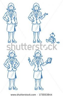 Drawn women business