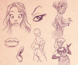 Drawn women cartoon