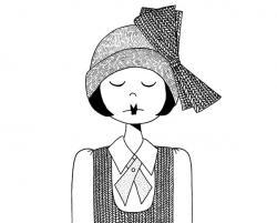 Drawn women doodle
