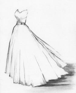 Drawn women dress