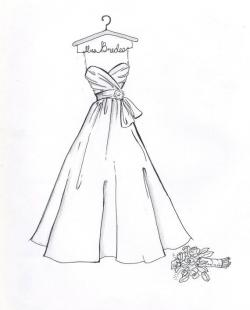 Drawn bride evening gown