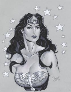 Drawn women female bust
