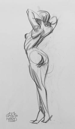 Drawn figurine sketch