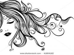 Gorgeus clipart flowing hair