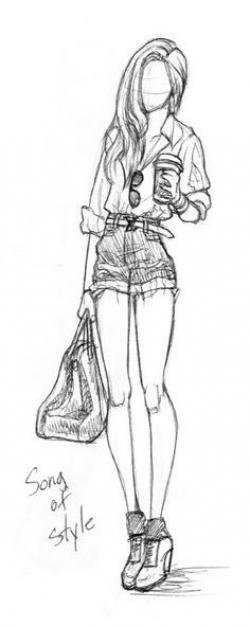 Drawn women full body