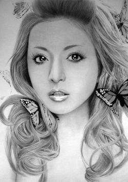 Drawn women pencil art
