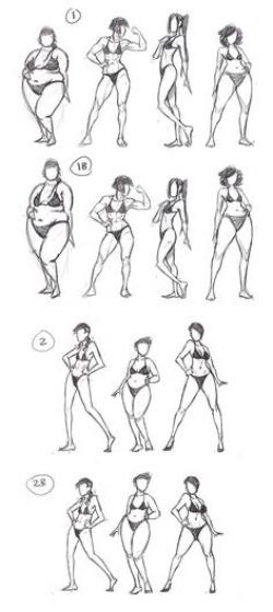 Drawn women shape