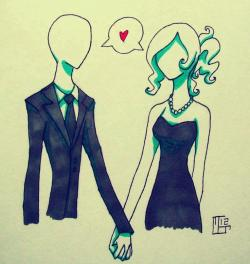 Drawn slender man female