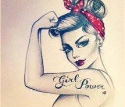 Drawn women strong woman