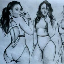 Drawn women thick