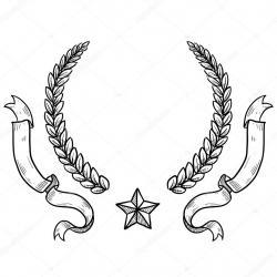 Drawn wreath heraldic
