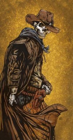 Drawn wyatt earp dia de los muertos