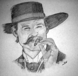 Drawn wyatt earp halloween tombstone