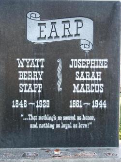 Wyatt Earp clipart gravestone