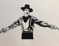 Drawn wyatt earp silhouette