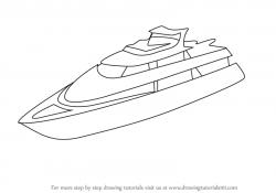 Drawn oat yacht