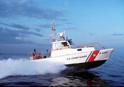 Drawn yacht coast guard boat