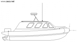Drawn yacht rescue boat