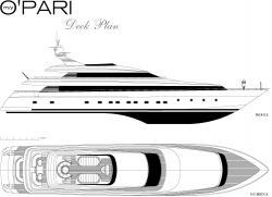 Drawn yacht small boat