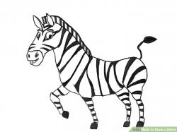 Drawn zebra