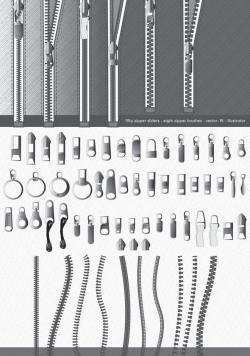 Drawn zipper vector