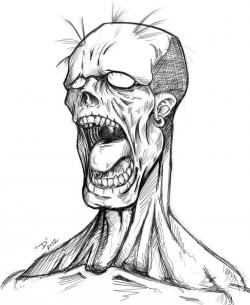 Drawn llama zombie