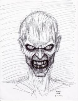 Drawn zombie