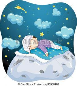 Dreaming clipart moon
