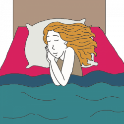 Dream clipart hotel bed