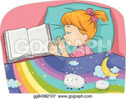 Dream clipart kid bed