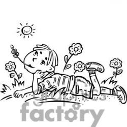 Dream clipart kid thinking