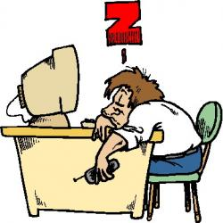 Resting clipart work