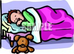 Dreaming clipart kid bed