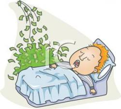 Dreaming clipart wealthy person