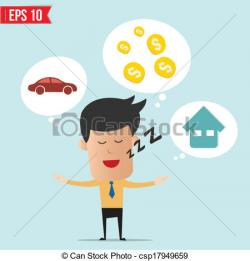 Dreaming clipart money man