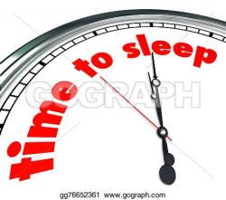 Clock clipart bedtime