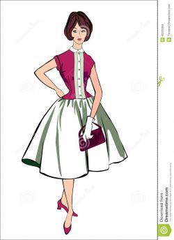 Dress clipart 50's