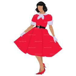 Red Dress clipart fancy clothes