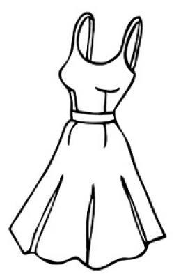 White Dress clipart frock